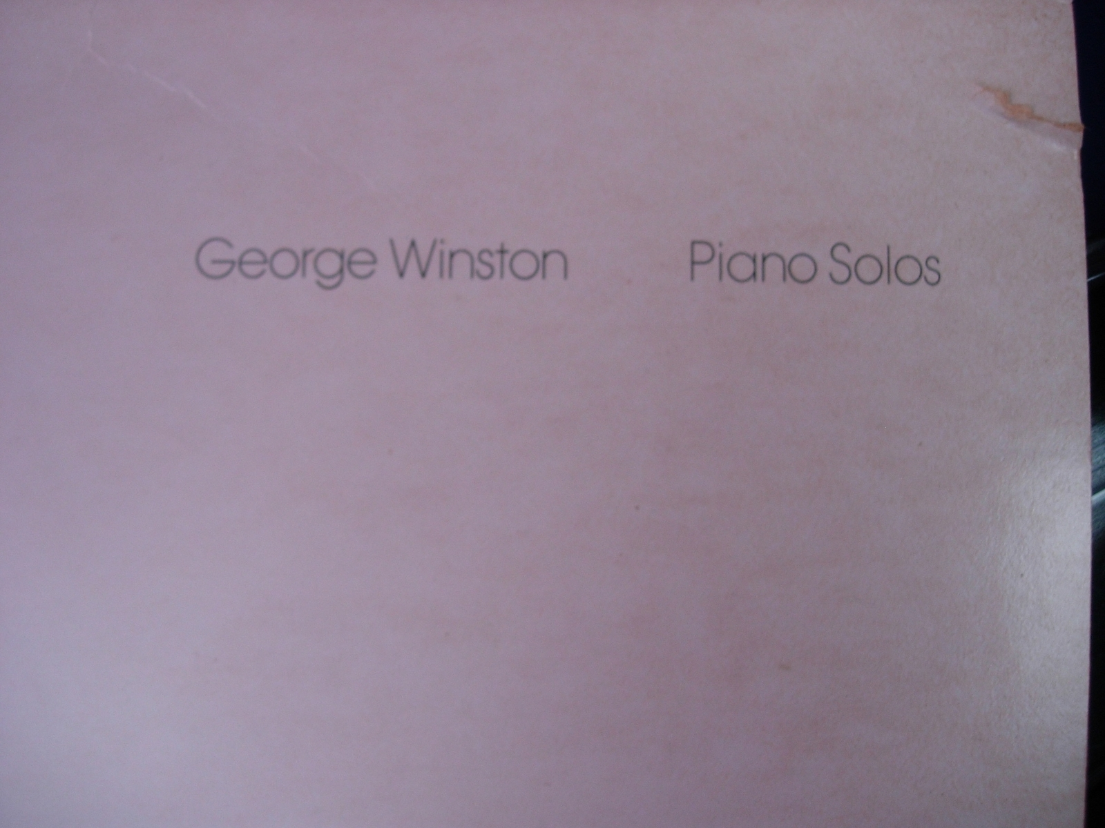 George Winston - December - Piano Solos  Windham Hill Records WH1025