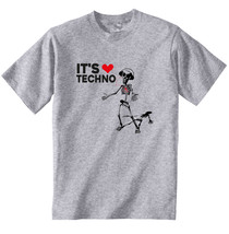 It's Techno - New Cotton Grey Grey Tshirt - $20.75