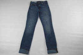 "Women GAP 1969 Slim Straight Distressed Jeans Size 25 R (Length 31"") - $13.37"