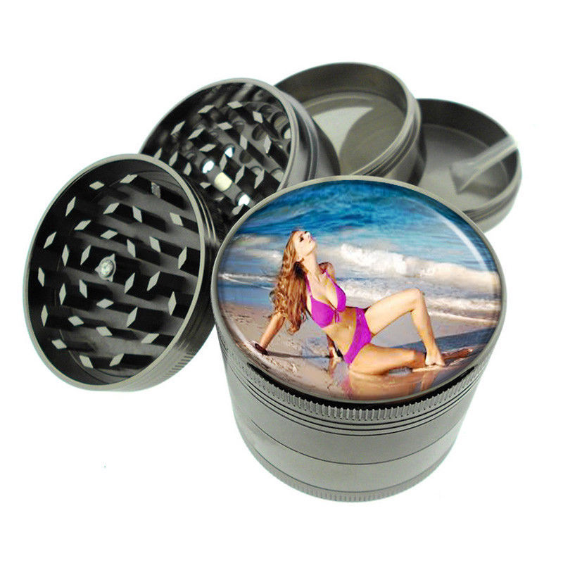 Beach Pin Up Girls D6 Titanium Grinder 4 Piece Magnetic Hand Mueller