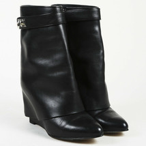 Givenchy Leather Wedge Ankle Boots SZ 38.5 - $560.00