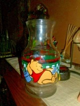 Winnie The Pooh Friends Glass Jar Juice Carafe Bottle Anchor Hocking Dis... - $17.75