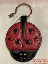 NWT COACH Leather Lady Bug Key chain, F63285 Key Fob, Bag Charm NEW!! - $50.00