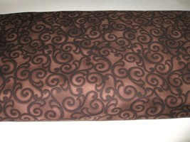 Michael Miller Cotton Fabric 11 yds CX3274 ETHEREAL Scroll Brown Choc  - $44.99