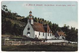ST ANNE DE BEAUPRE Quebec QC, Old Church, Vieille Eglise Canada postcard - $3.95
