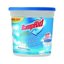 DampRid Refillable Moisture Absorber, Fragrance Free, 10.5-Ounce Pack of 3