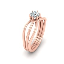 6 Prong Set Solitaire 0.50ct DEF Moissanite Engagement Ring Solid 10k Rose Gold - $709.99