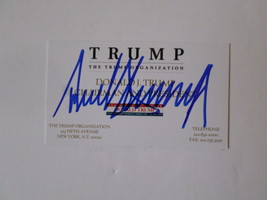 Donald Trump signed business card - $179.00
