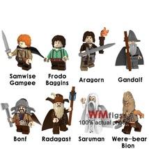 8pcs/set The Hobbit Lord of the Rings Gandalf Baggins Saruman Minifigures Lego - $12.50