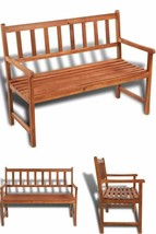 Wooden Rustic Patio Bench 2 Seater Garden Outdoor Seat Chair Classic Fur... - $175.10