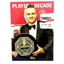Mike Trout 2020 Topps Series 2 Player of the Decade Insert Card #25 MLB ... - $2.92