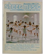 Sheet Music Magazine November 1981 Standard Piano/Guitar - $3.99