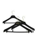 Set of 3 Celine Plastic Velvet Covered Hangers with printed Logo - $59.40