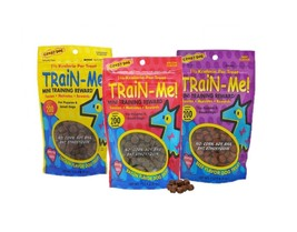 Dog Training Treat Sampler 3 Pack Train Me Mini Healthy Bacon Chicken Be... - $25.86 CAD