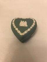 Small Wedgwood Jasperware Heart Shaped Trinket Box/ Broken - $19.80