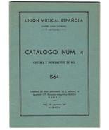 Vintage 1964 UME Unión Musical Ediciones ESPANOLA Guitar SHEET MUSIC Cat... - $24.74