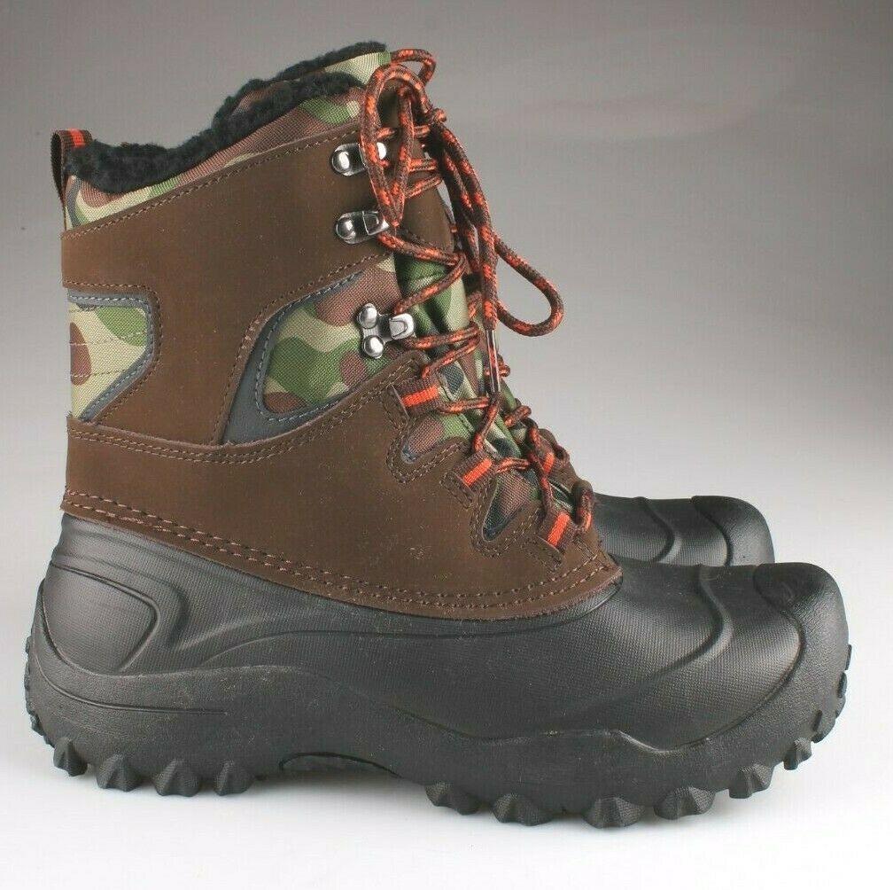 Goodfellow Co Case Mens Brown Camo Leather Textile Faux Fur Chucka Winter Boots