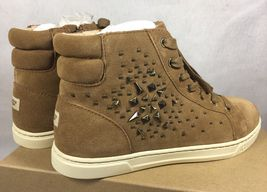 UGG Australia GRADIE DECO STUDS LEATHER Chestnut HIGH TOP SNEAKERS 1013911 image 5
