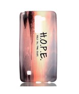 Patterned TPU Shell Case for LG Stylus 2/LG G Stylo 2 - Quote about Hope - $2.85