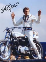 Vintage Harley Davidson Evel Knievel publicity photo steel sign biker decor - $19.79