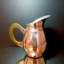 VINTAGE B M Norge Pewter Small Pitcher Made In Norway Teak Wood Handle 6... - $22.76