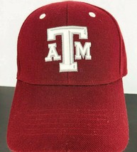 Texas A M Aggies XII Man Wool Blend Cap Maroon White Vintage Baseball Hat - $39.59