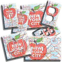 NYC NEW YORK CITY BIG APPLE SUBWAY MAP LIGHT SWITCH OUTLES WALL PLATE RO... - $8.99+