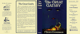 Fitzgerald THE GREAT GATSBY facsimile jacket for 1st ed/early -NO BOOK i... - $29.35