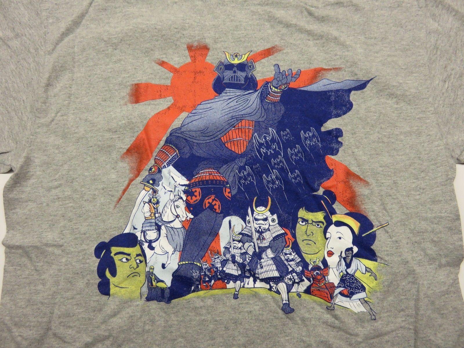 STAR WARS Grey Samurai Style Movie Poster Graphic Shirt Darth Vader Stromtropper