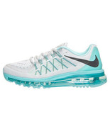 Nike Women's Air Max 2015 Shoes NEW AUTHENTIC Pure Platinum/Aqua 698903-007 - $149.49