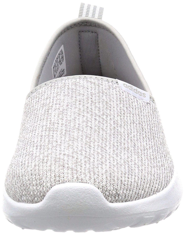 detailed look 4a57e 1b058 Adidas Neo Cloudfoam Lite Racer Slip-On Women s(AW4084)Running Gray