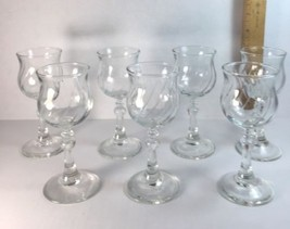 Avon Cordial Wine Glass Lot of 7 Clear Swirl Votive T Light Candle Hold... - $55.39