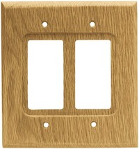 Brainerd 64654 Wood Square Double Decorator Wall Plate / Switch Plate / ... - $22.57
