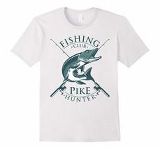 Funny Shirt - Fishing Club Pike Hunter Fishing Retro Logo Design T-Shirt Men - $19.95+