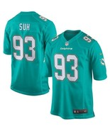 "NIKE MIAMI DOLPHINS NFL ""SUH 93""  FOOTBALL JERSEY SIZE L NEW WITH TAGS $150 - $46.50"