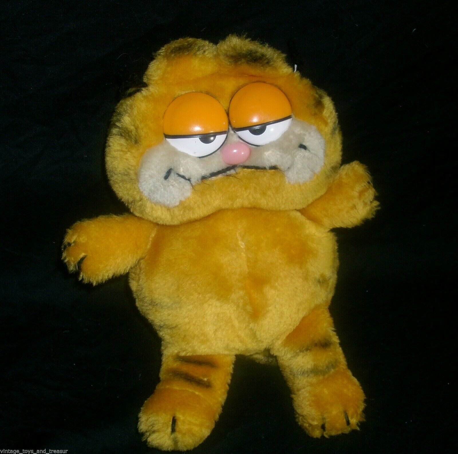 "Primary image for 9"" VINTAGE 1981 DAKIN GARFIELD ORANGE STUFFED ANIMAL PLUSH CAT TOY LOVEY DOLL"