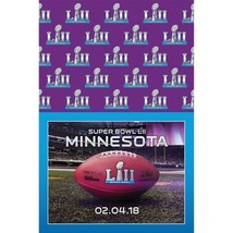 Super Bowl LII 2018 Minnesota Plastic Tablecover Table Cloth Superbowl 52 - $9.19