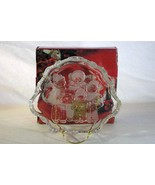 "Mikasa Christmas Carolers Crystal Open Candy Sweets Dish 8 1/4"" In Box - $5.66"