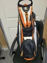 Bennington Orange Black Multi Pocket Organized Golf Bag With Club Cover  - $79.20