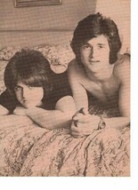 Bay City Rollers teen magazine pinup clipping Vintage 1970's Shirtless In Bed - $3.50