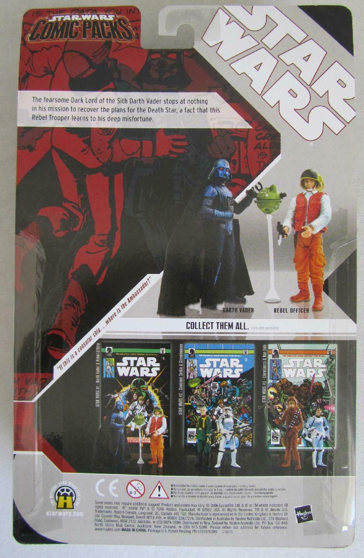 Star Wars Comic Packs DARTH VADER & REBEL OFFICER Figures & Comic Book image 2