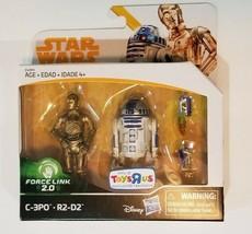 Star Wars *C-3PO & R2-D2* Toys R Us Exclusive Force Link 2.0 Solo Line Figures! - $19.79