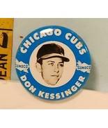 1969 Don Kessinger Chicago Cubs Baseball Sunoco Button EXMT - $12.38