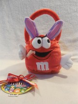 2005 M&M's Minis Galerie Easter Plush Red Bunny Basket - $3.95