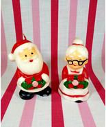 Wonderful Vintage Santa and Mrs. Claus Colorful Figural Wax Candles Hong... - $10.00