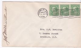 Franklin Ohio January 17 1933 On 1C Franklin Stamp Signed By Postmaster - $2.98