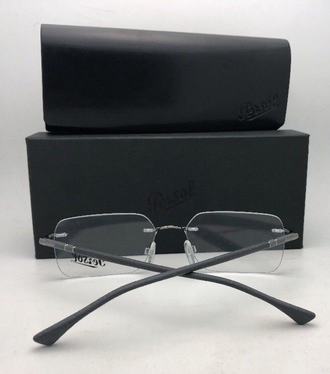 2daf0eb7d3 New PERSOL Rx-able Eyeglasses 2428-V 1021 54-17 140 Rimless Silver   Brown  Frame -  219.95