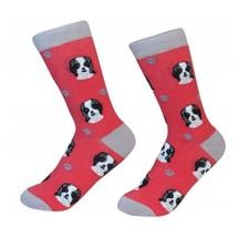 Shih Tzu Socks Unisex Black White Shih Tzu Dog Cotton/Poly One size fits... - $11.99