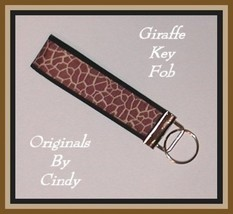 Giraffe Key Ring, Giraffe Key Fob, Brown Giraffe Key Ring, Giraffe Wristlet - $6.50