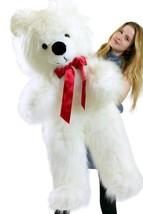 Giant White Teddy Bear 46 inch Soft Big Plush Valentines Day Stuffed Ani... - $117.11
